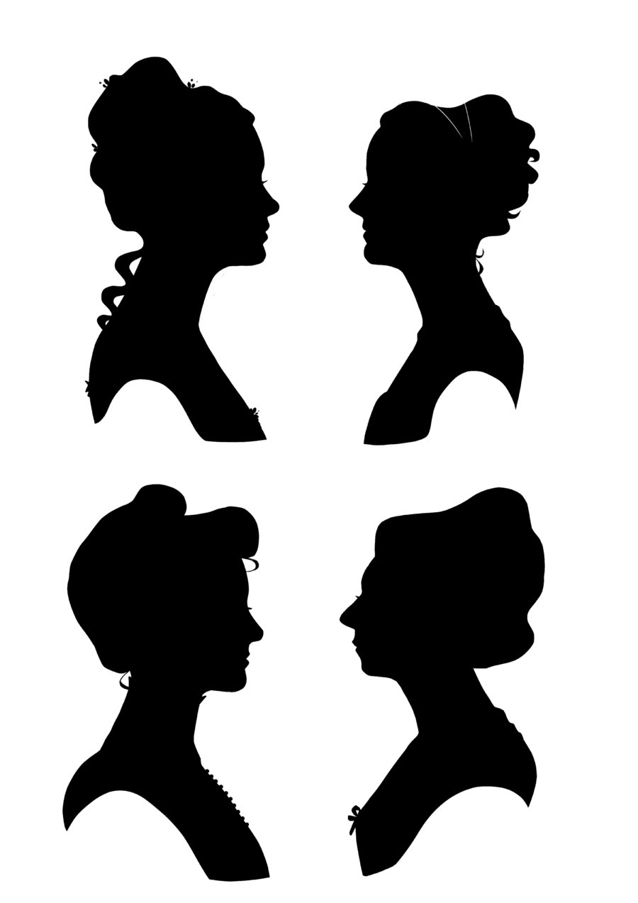 Silhouette images victorian.