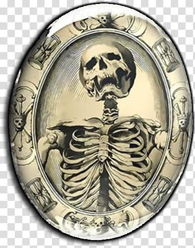 Bizarre Victorian collection, skeleton decorative plate.