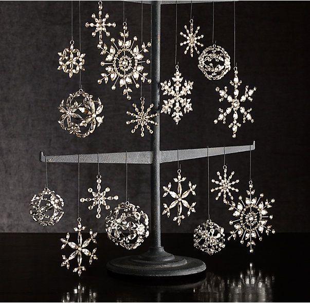 Victorian Glass Snowflake Sphere Ornament.