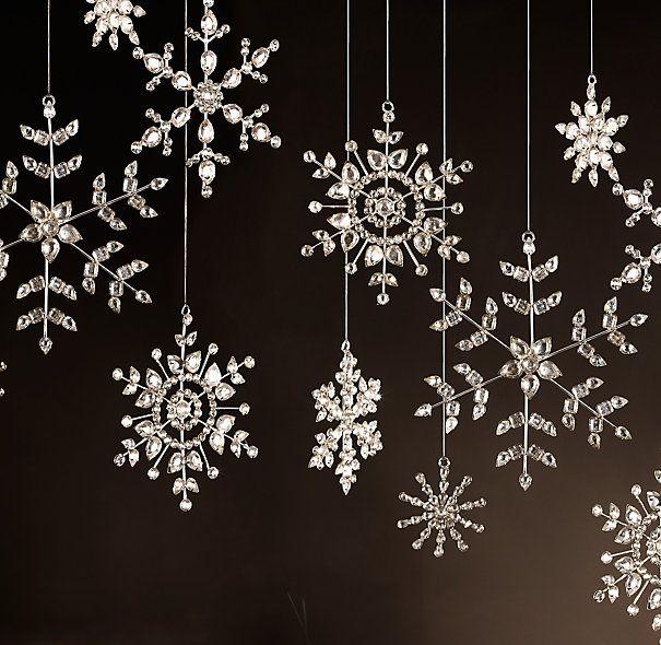 Victorian glass snowflakes, Restoration Hardware.