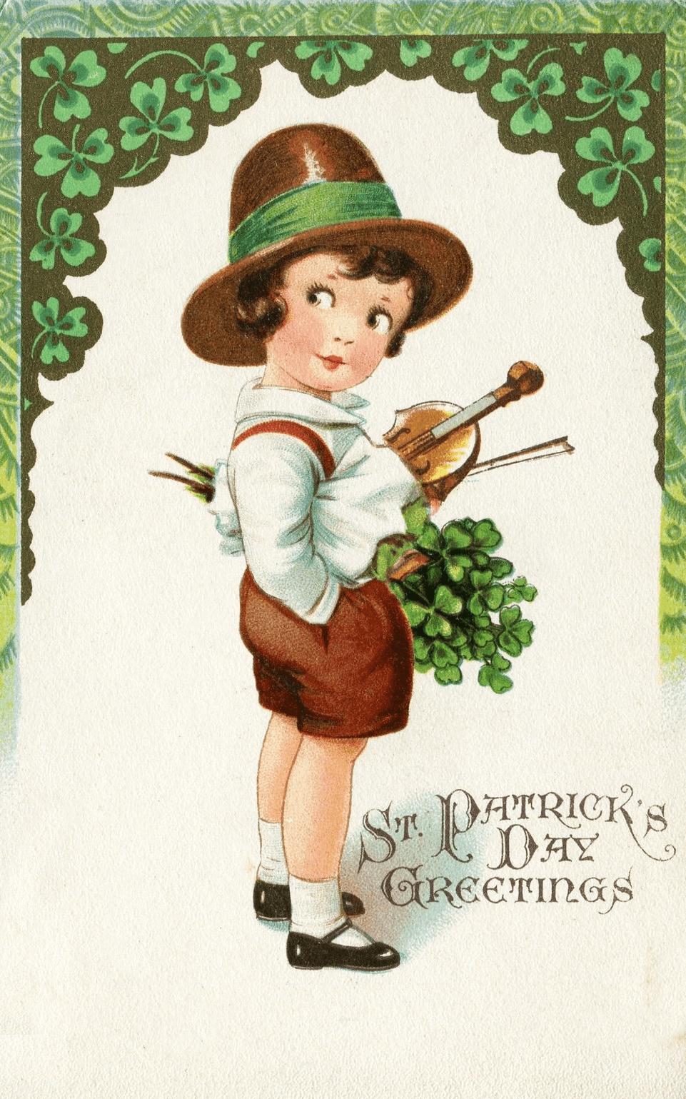 Victorian Saint Patrick\'s Day Clipart.