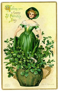 73 Best VINTAGE ST PATRICK\'S DAY CLIPART images in 2016.