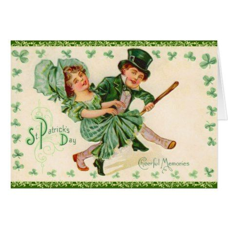 Victorian St. Patrick\'s Day Greeting Card.