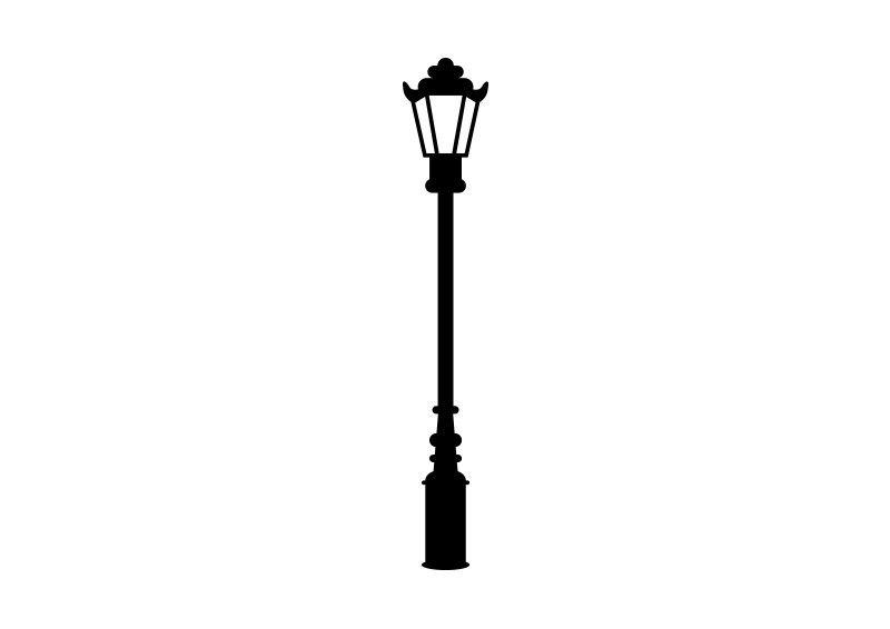 Retro Street Lamp Vector.