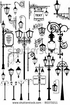15 Best Street Lantern Vectors Silhouettes images.