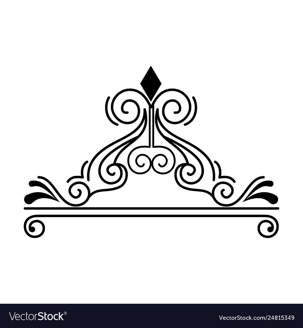 Label victorian style icon.