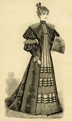 victorian lady clip art, antique fashion illustration, black and.