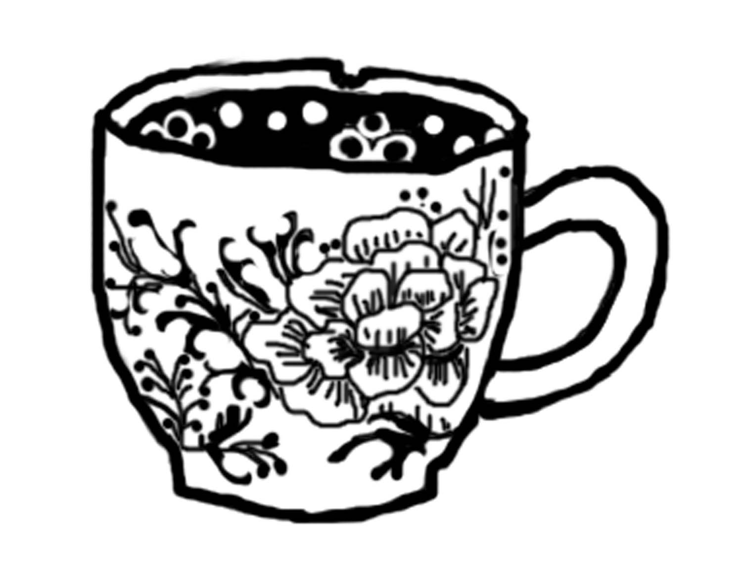 Victorian Teacup Drawing at PaintingValley.com.