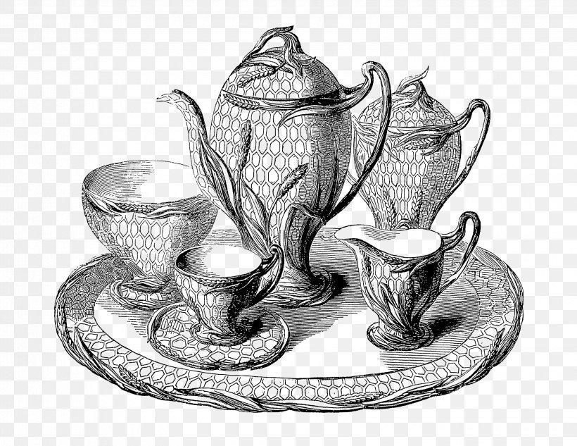 Victorian Era Drawing Tea Clip Art, PNG, 3300x2550px.