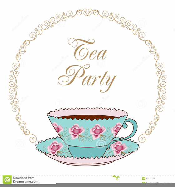 Free Victorian Tea Party Clipart.
