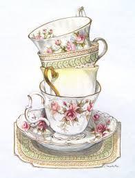 Victorian tea party clipart.