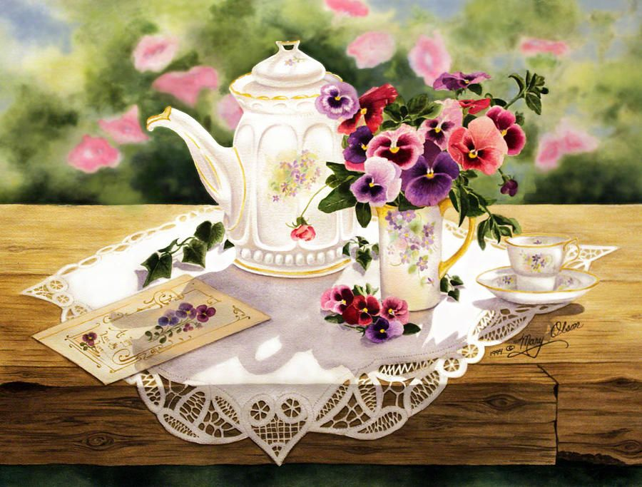Victorian Tea Party Clip Art.