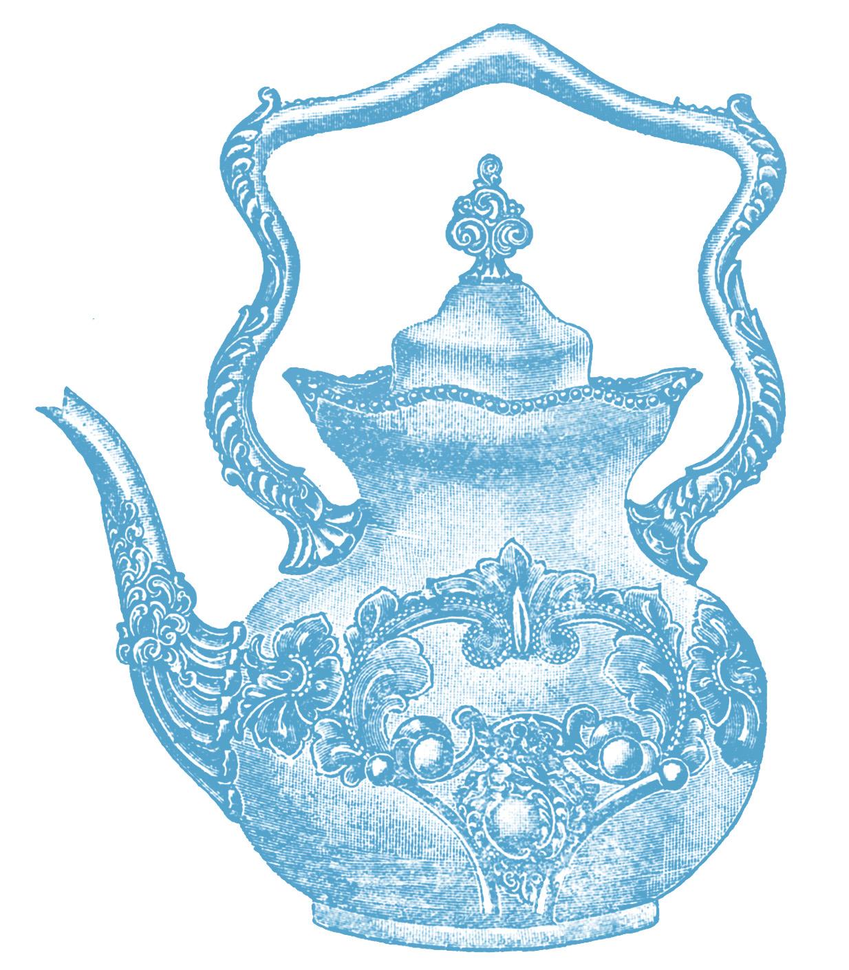 Victorian clip art fancy teapot the graphics fairy.