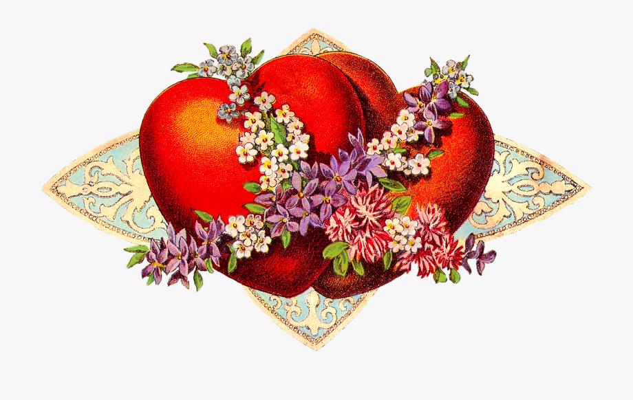 Valentines Day Victorian Clip.