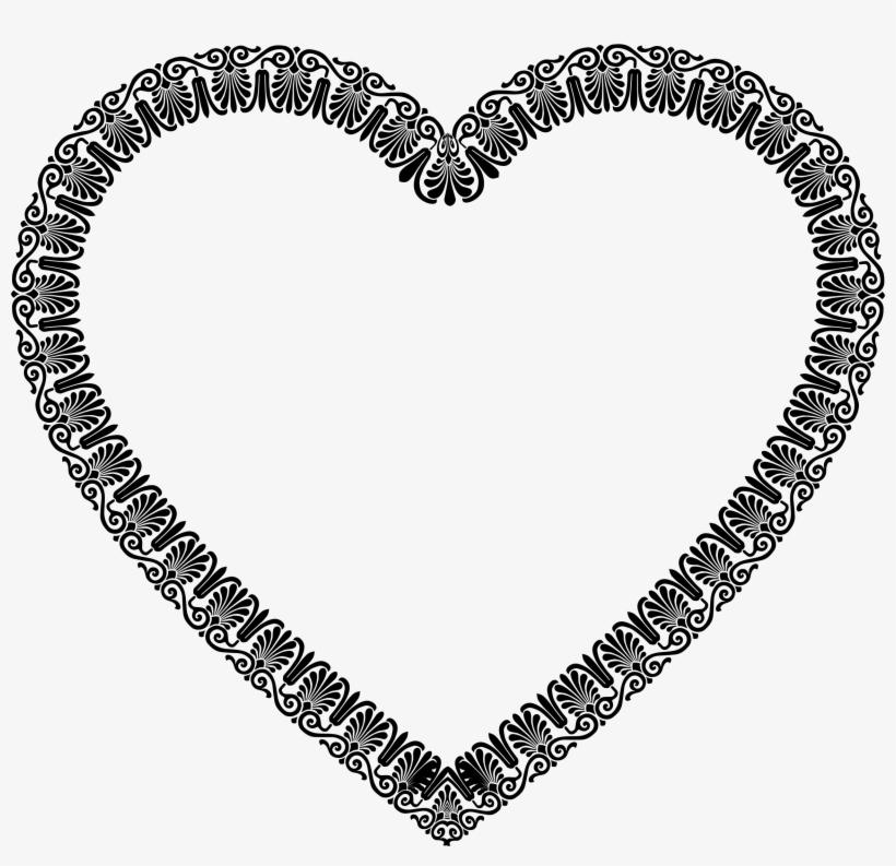 Victorian Ornament Heart Clipart Transparent.