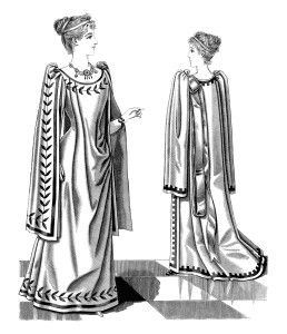 victorian lady printable, people clip art, black and white.