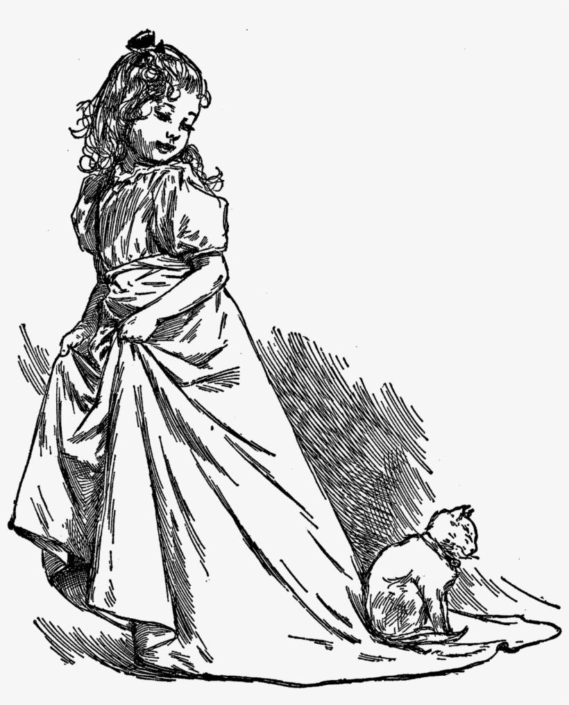 Vintage Girl Artwork Illustration Images.
