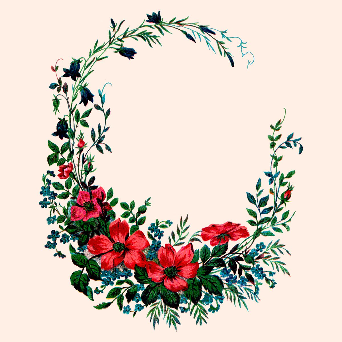 Library of victorian wreath svg free png files.