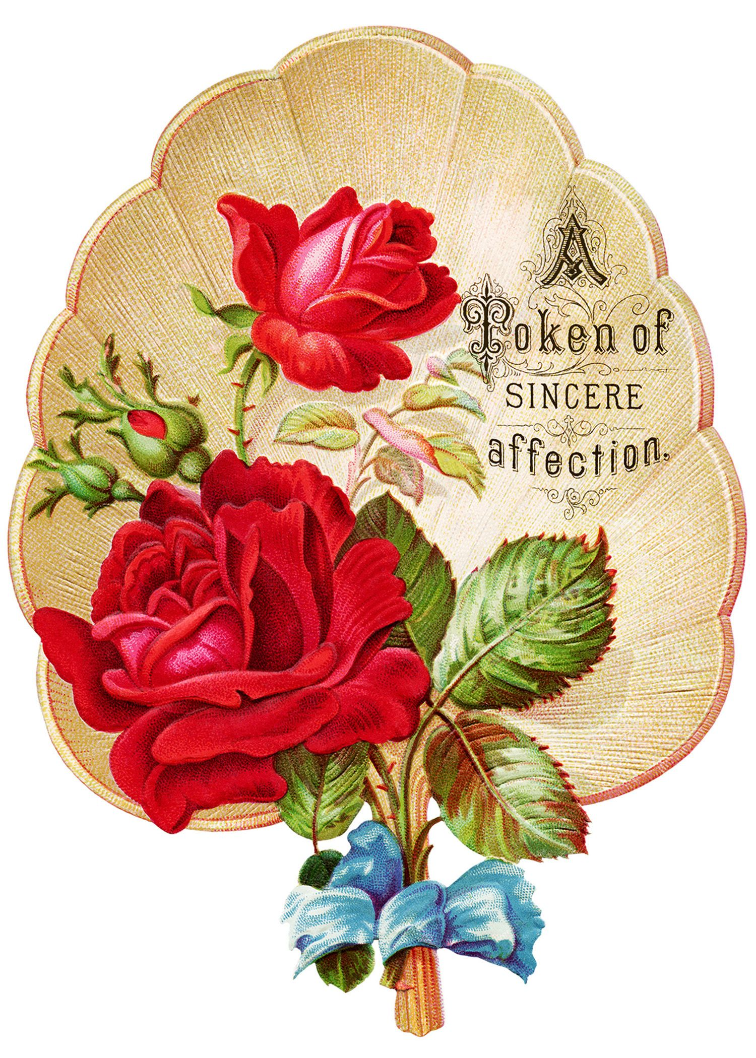 free Victorian Roses art.
