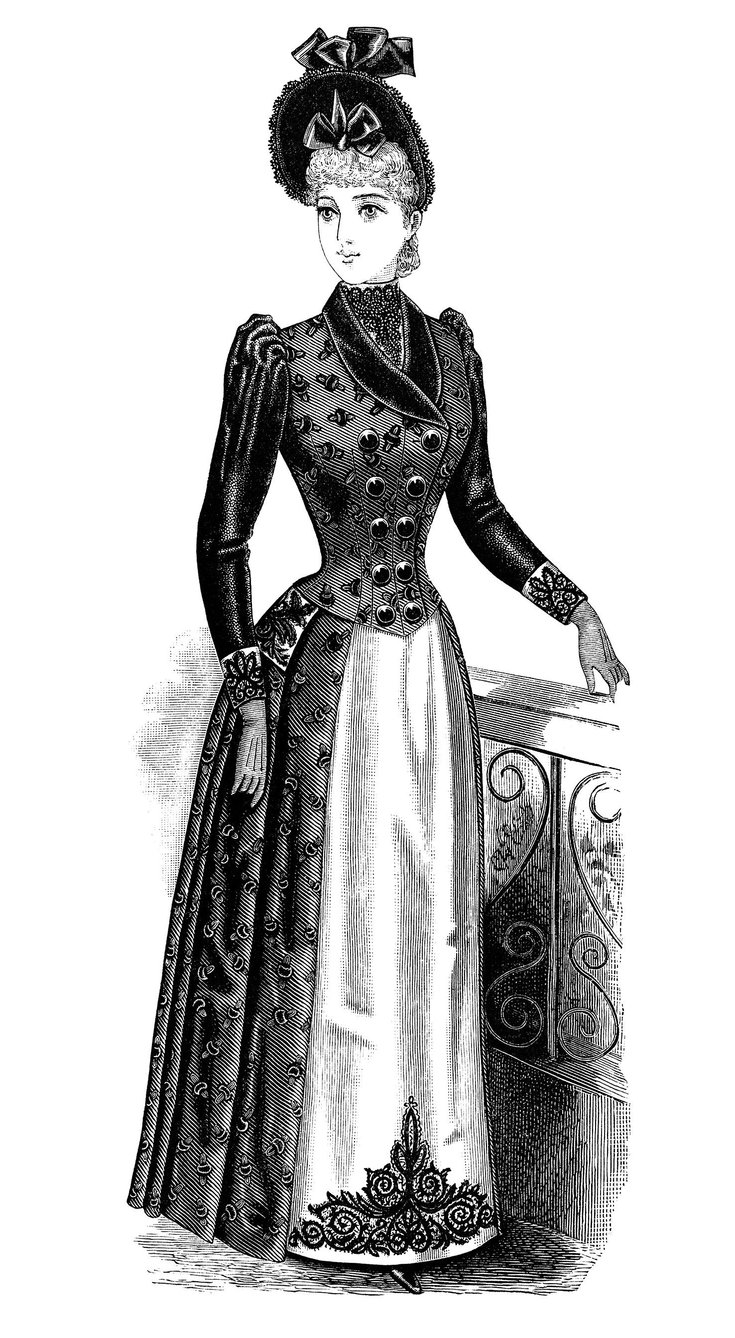 Victorian Women Clip Art.