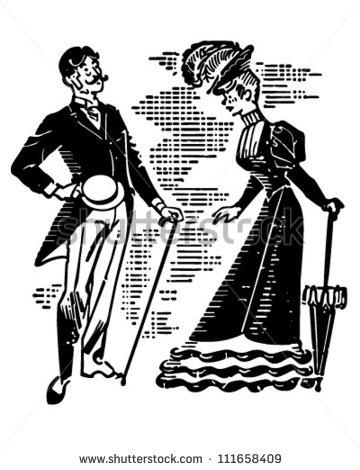 Victorian Hat Clipart.