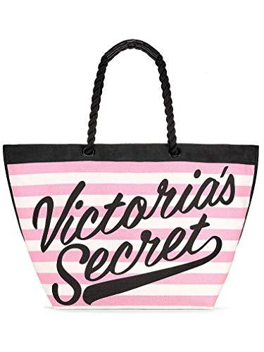 Amazon.com: Victoria\'s Secret Pink & White Stripes Weekender.