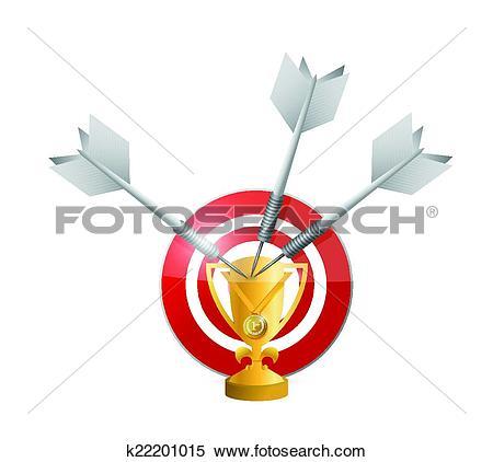 Clipart of target victories illustration design k22201015.