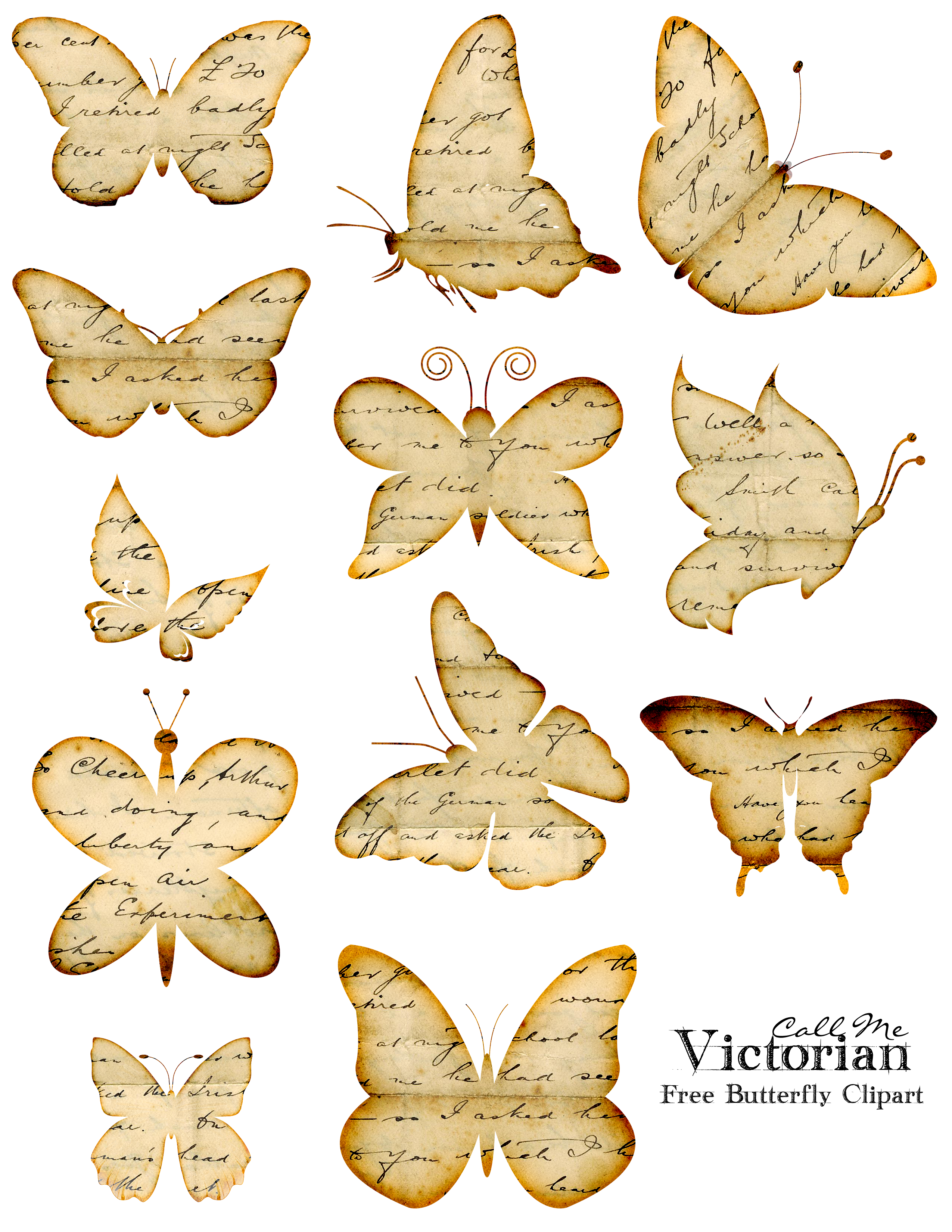 Free Butterfly Clipart Images.