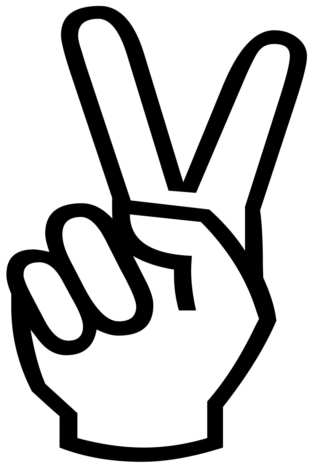 Victory Sign Clipart.