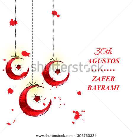 Vector Images, Illustrations and Cliparts: Turkish Victory Day.