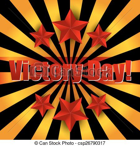 Vector Clip Art of Victory Day csp26790317.
