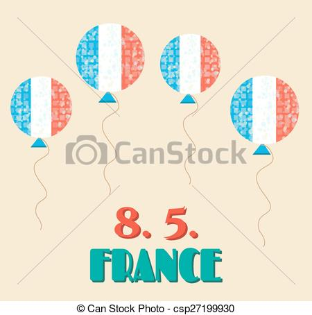 Vectors of Simple, vintage card with flying balloons.