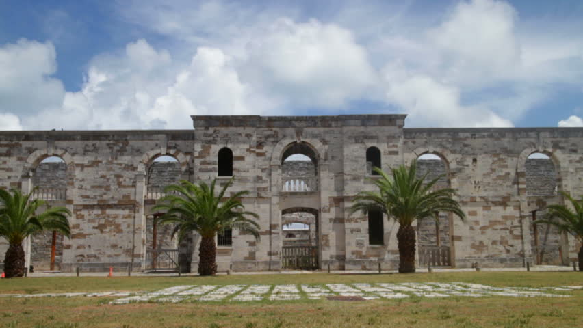Remains Of A Building In The British Navel Dockyard In Bermuda.