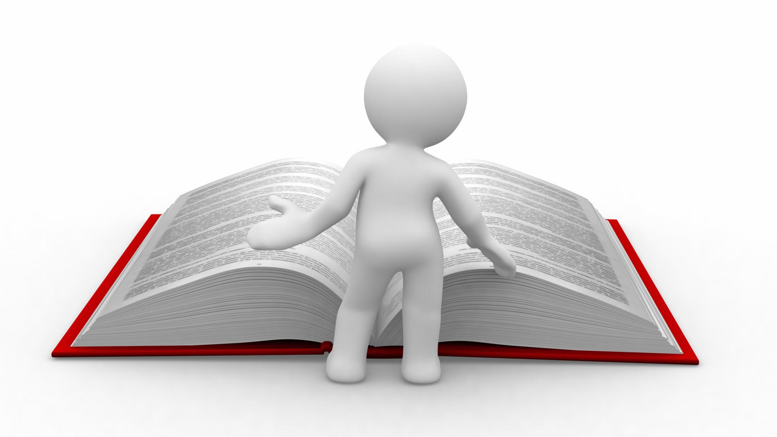 skrivebordsbaggrunde læsning, kæmpe, viden, clipart, mand, bog.