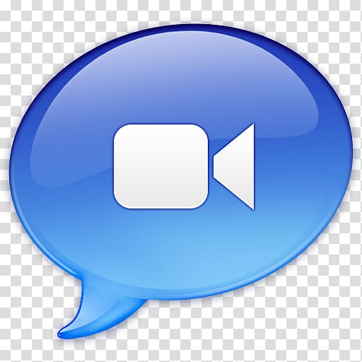 Blue and white video call logo , electric blue computer icon.