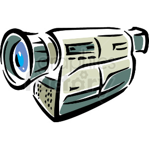 A Video Camera clipart. Royalty.