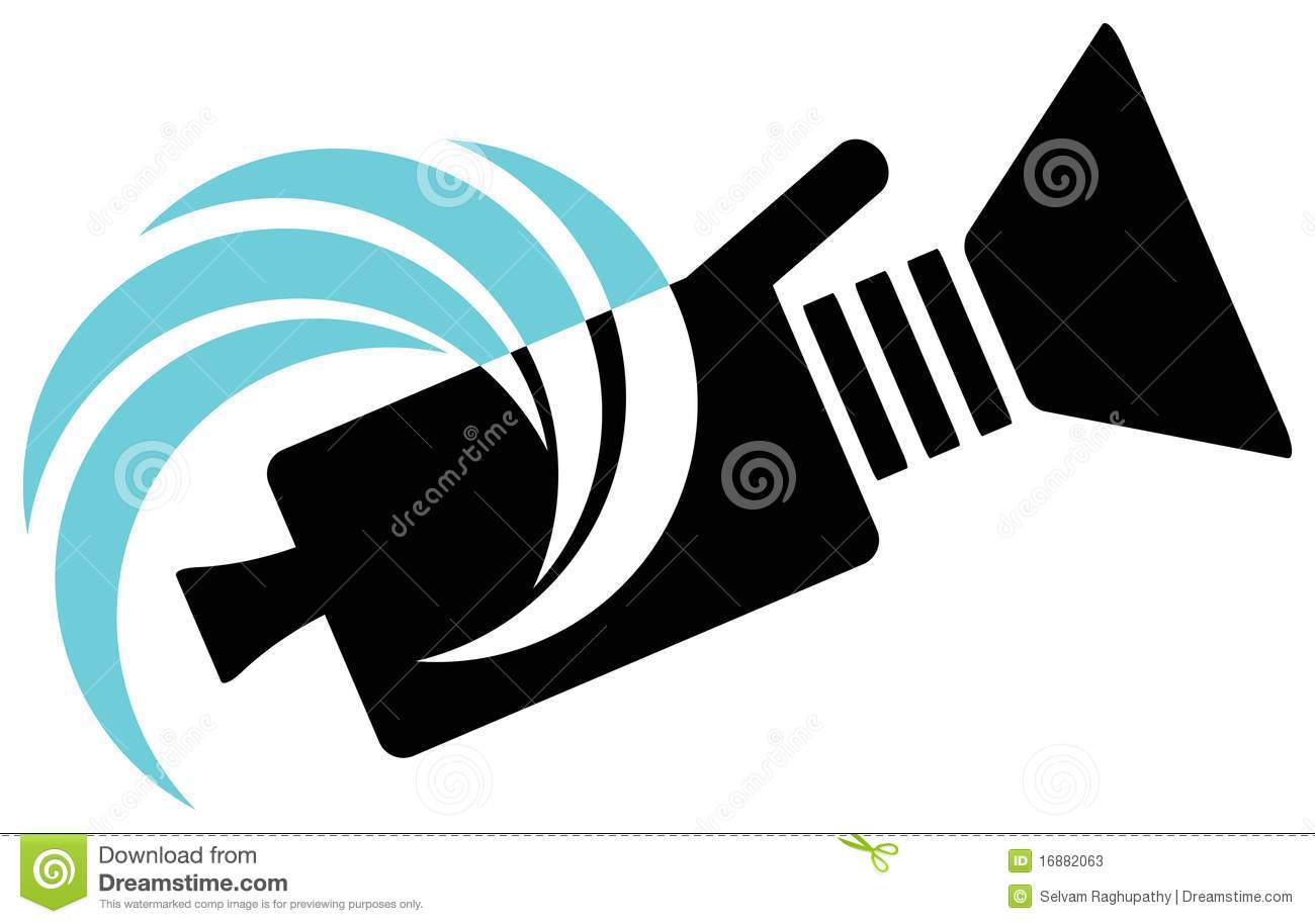 Video Camera Logo Royalty Free Stock Photos.