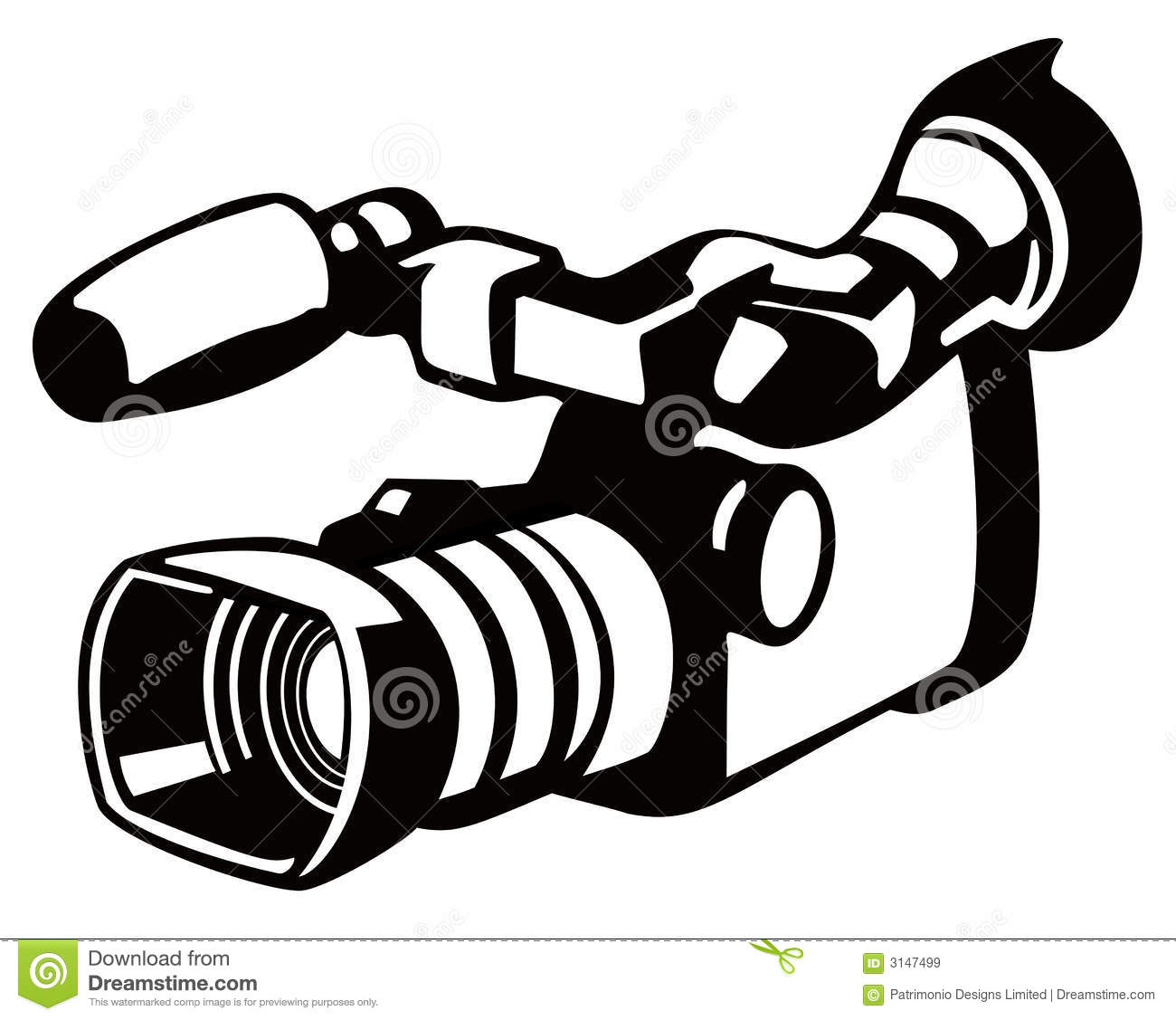 Video Camera Stencil Style Royalty Free Stock Images.