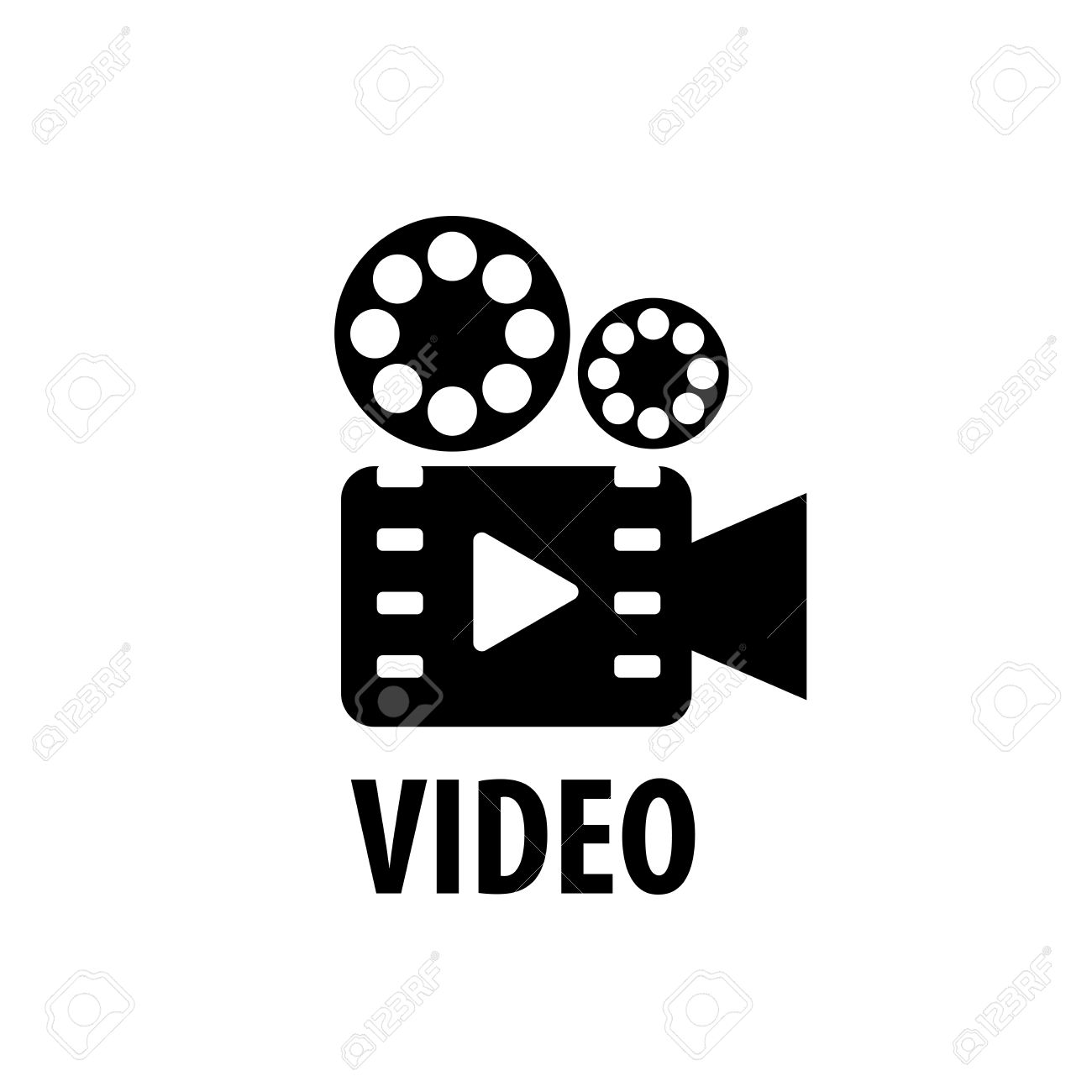 Video Camera Logo Design Template. Vector Illustration Royalty.