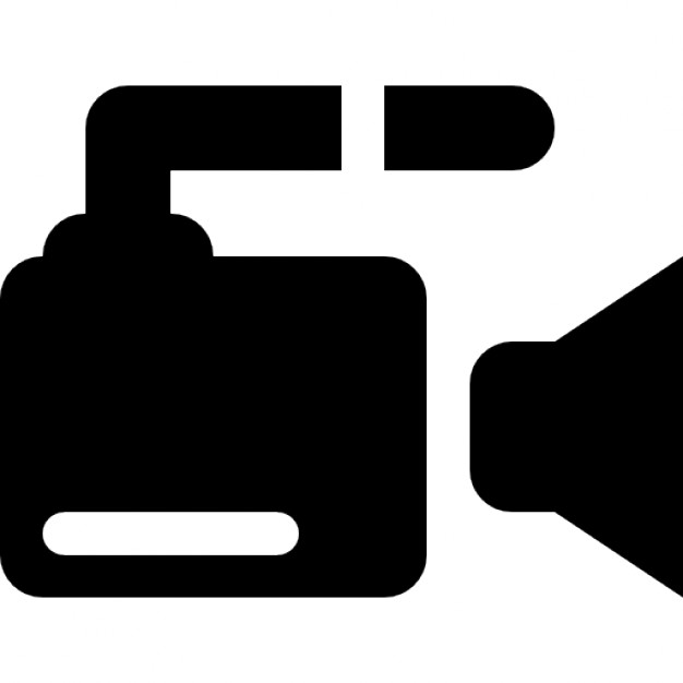 Video camera side view Icons.