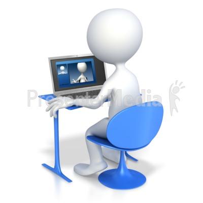 Stick Figure Video Chatting.