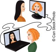Video chat Clip Art Vector Graphics. 7,398 Video chat EPS.