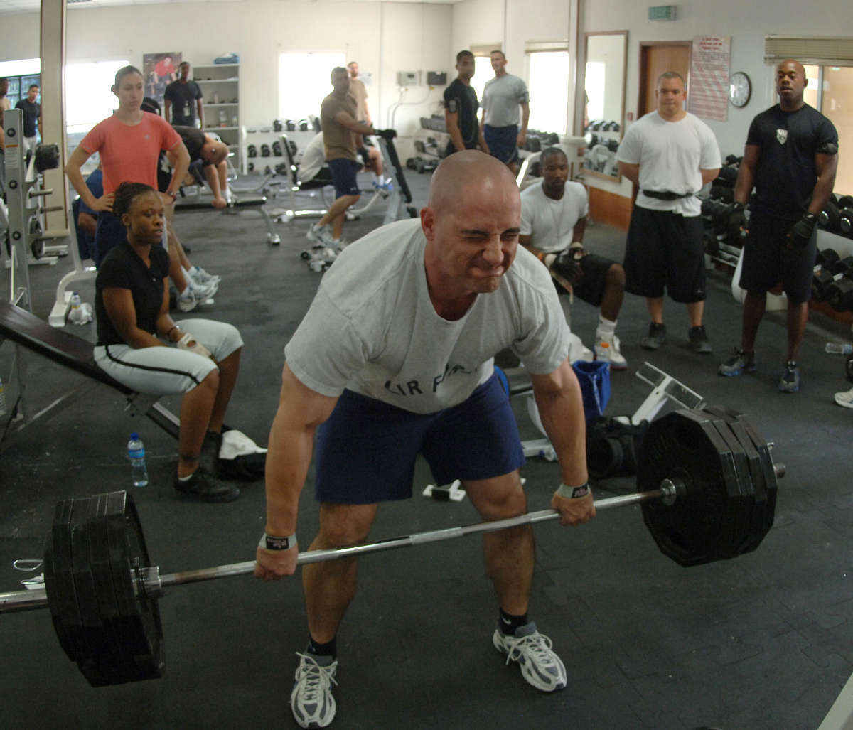 Lifting Weights.
