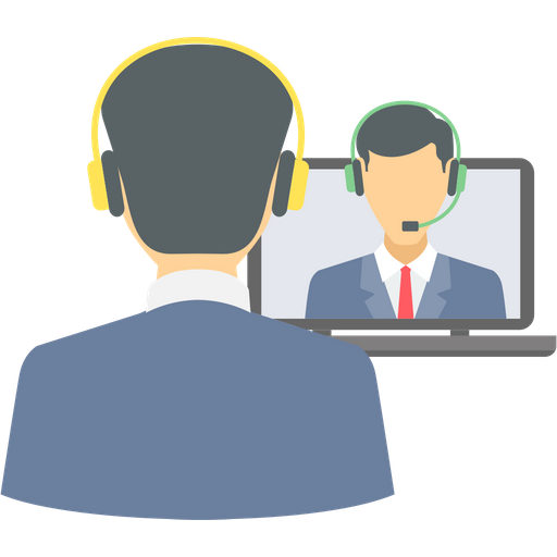 Video Conference Icon of Flat style.
