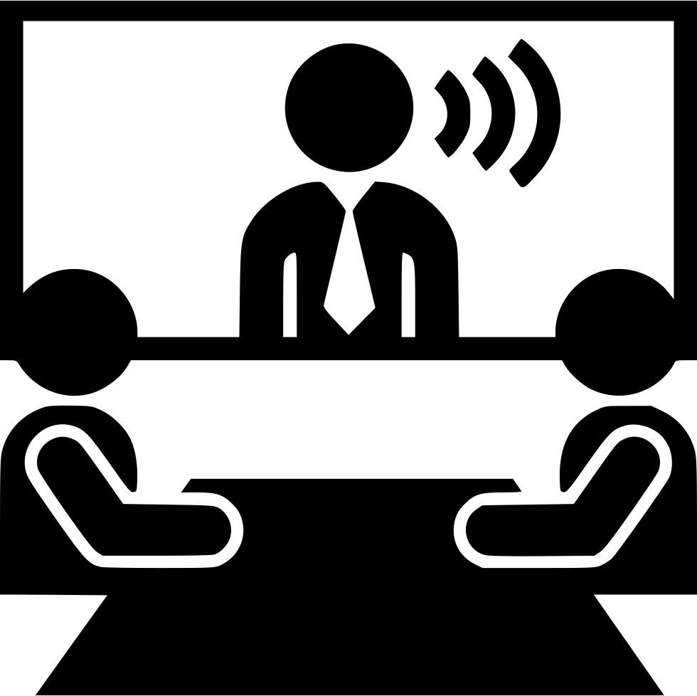 Video Conference Distance Communication Meeeting Svg Png.