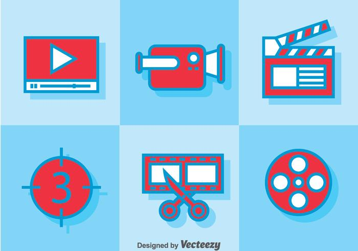 Video Editing icons.