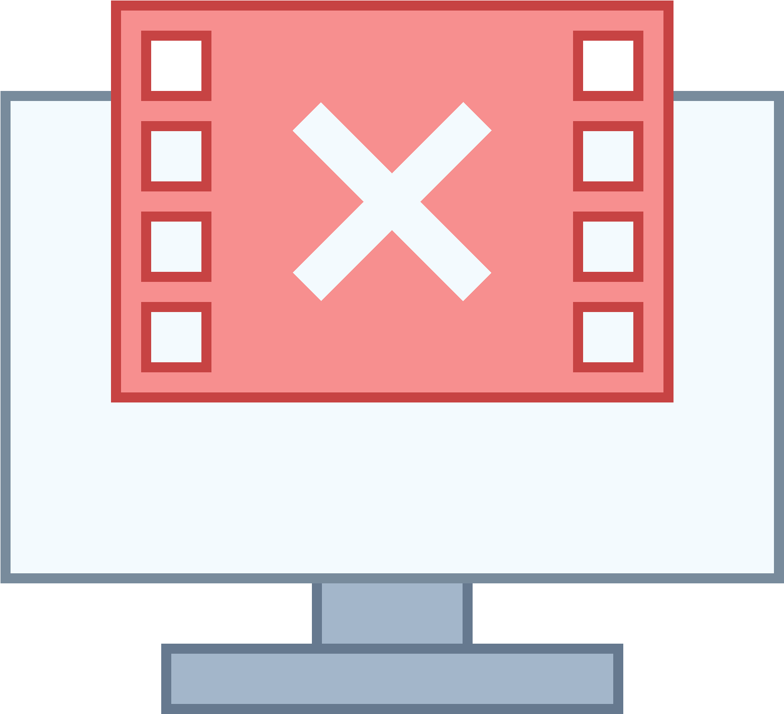 Not Sending Video Frames Icon Clipart.