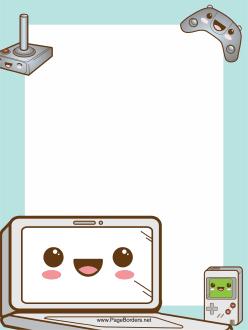 Computer Game Border.