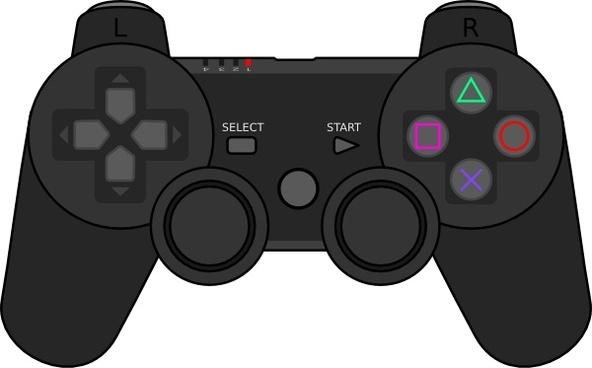 Video game remote control clipart.