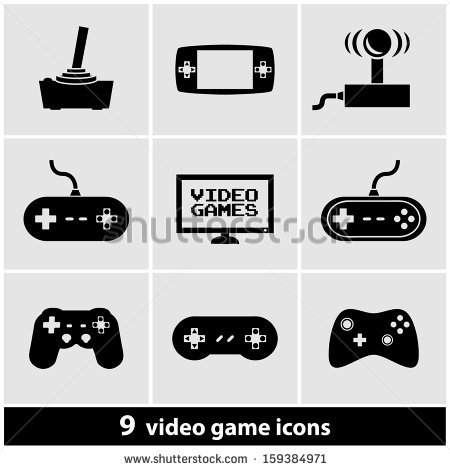 Video Game Icon Stock Images, Royalty.